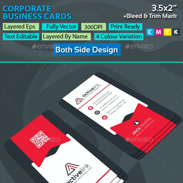 Active Link Corporate Business Cards