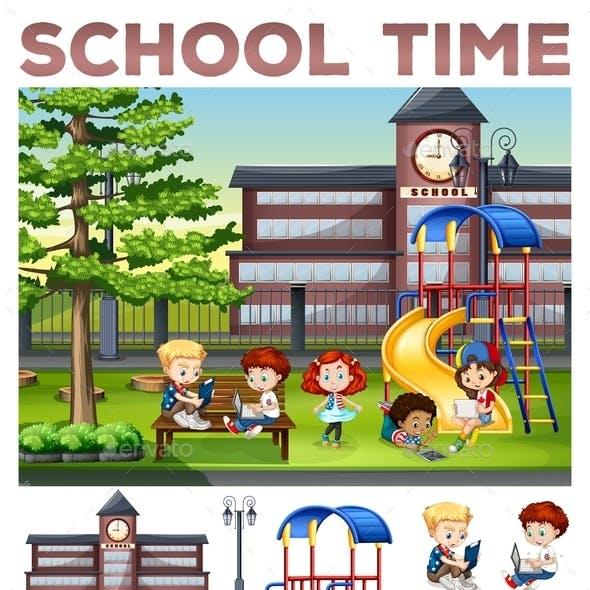 Children Doing Activities at School