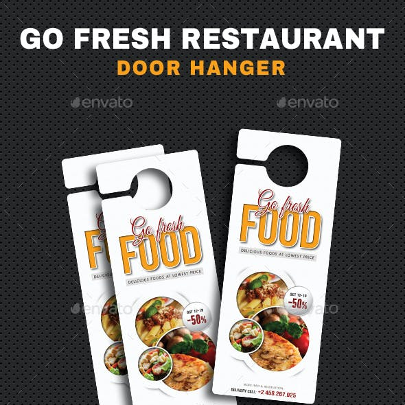 Go Fresh Restaurant Door Hanger
