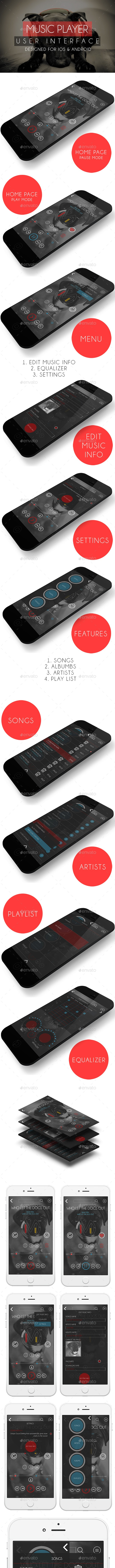 MUSIC PLAYER (USER INTERFACE) - User Interfaces Web Elements