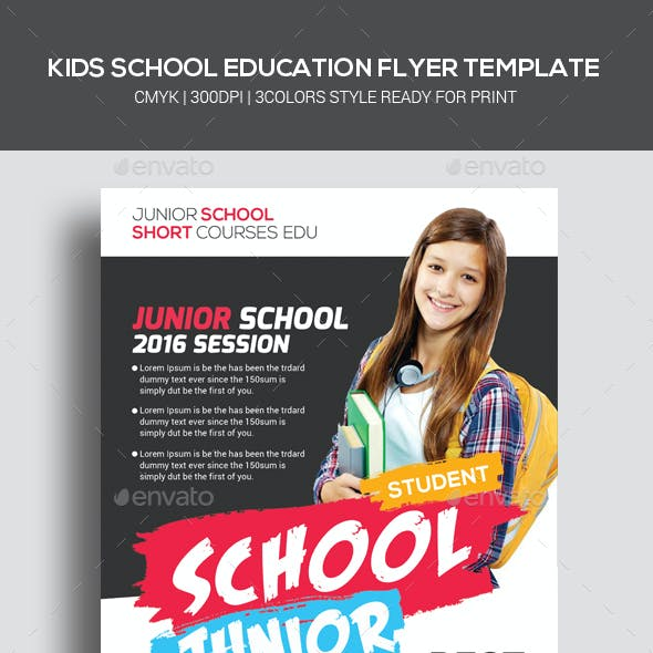 Kids School Education Flyer