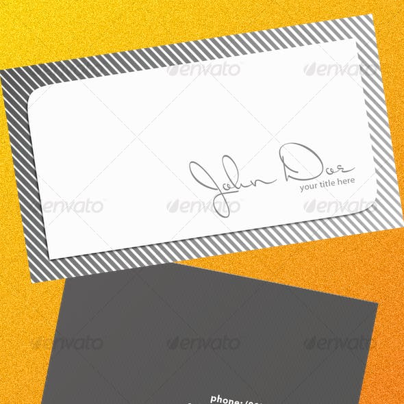 Grayscale Business Card
