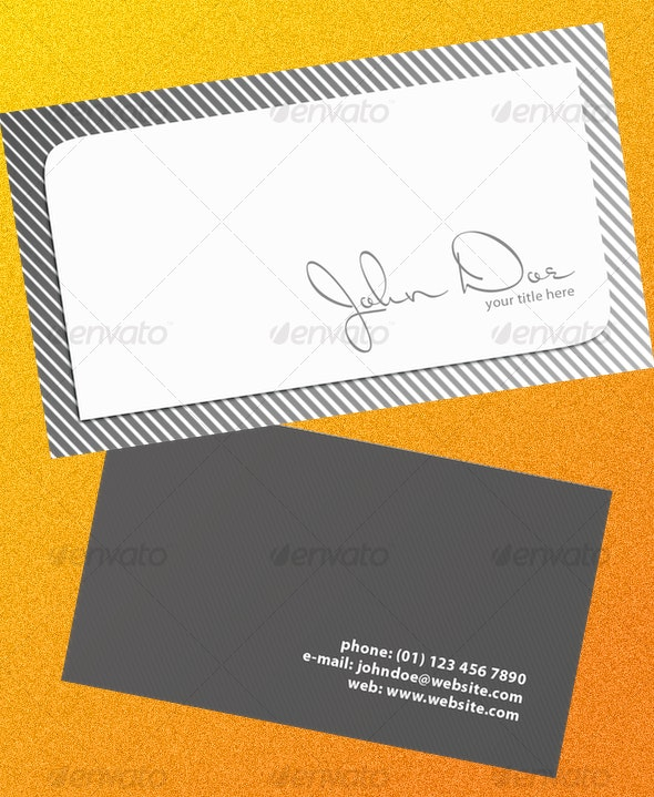 Grayscale Business Card - Creative Business Cards