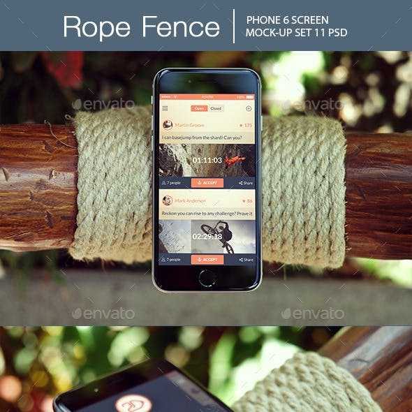 Rope Fence iPhone 6 Mockup