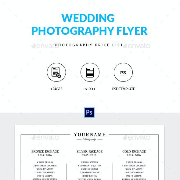 Photography Pricing Guide Marketing Flyer