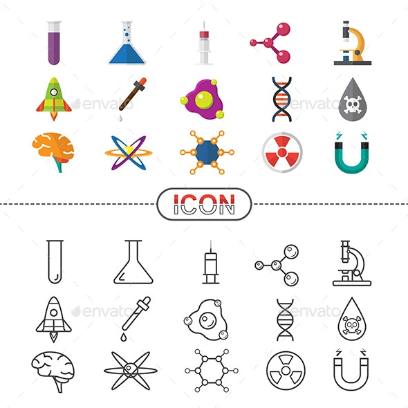 Vector Icon Science and Chemical - Miscellaneous Icons