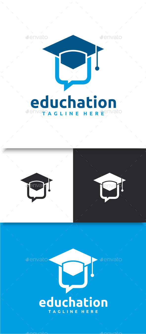 Education Chat Logo - Symbols Logo Templates