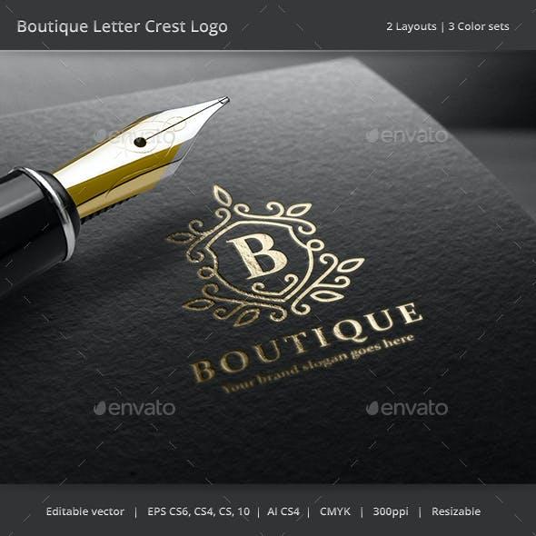 Boutique Letter Crest Logo