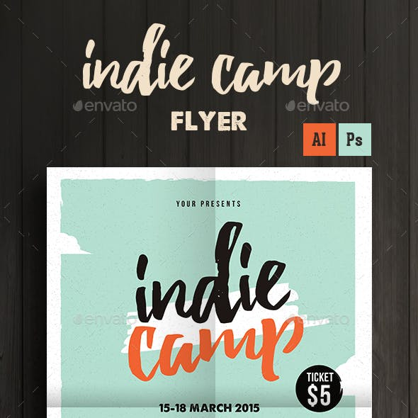 Indie Camp Festival Flyer/Poster