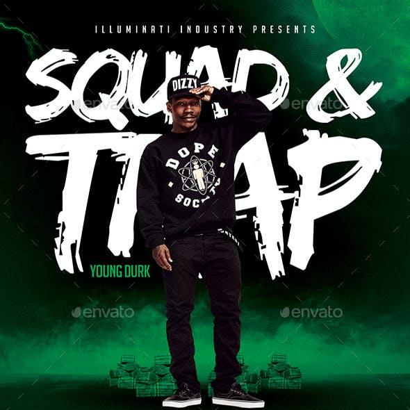 Squad & Trap   Modern Artist Flyers PSD Template