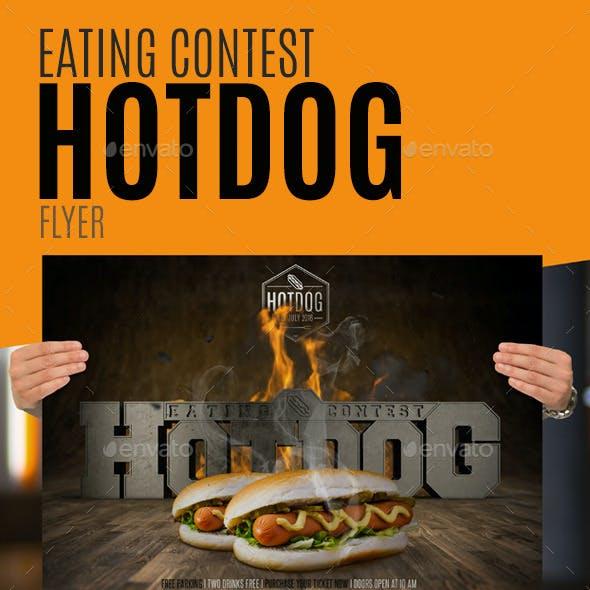 Eating Contest Hotdog Flyer