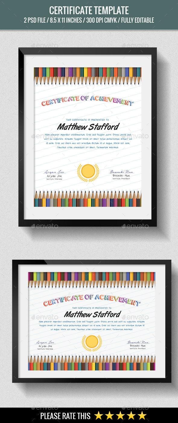 School Certificates - Certificates Stationery