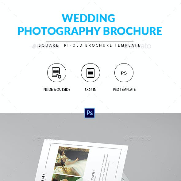Square Trifold Brochure for Wedding Photographer
