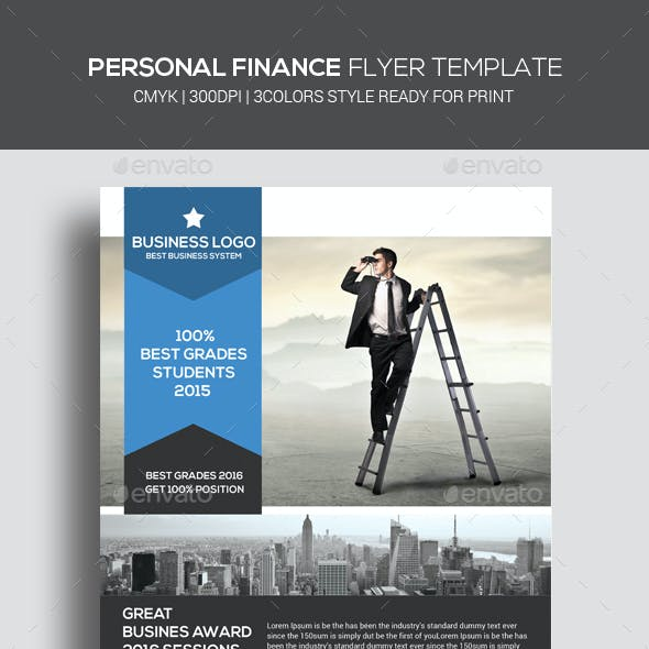 Personal Finance Flyer Psd