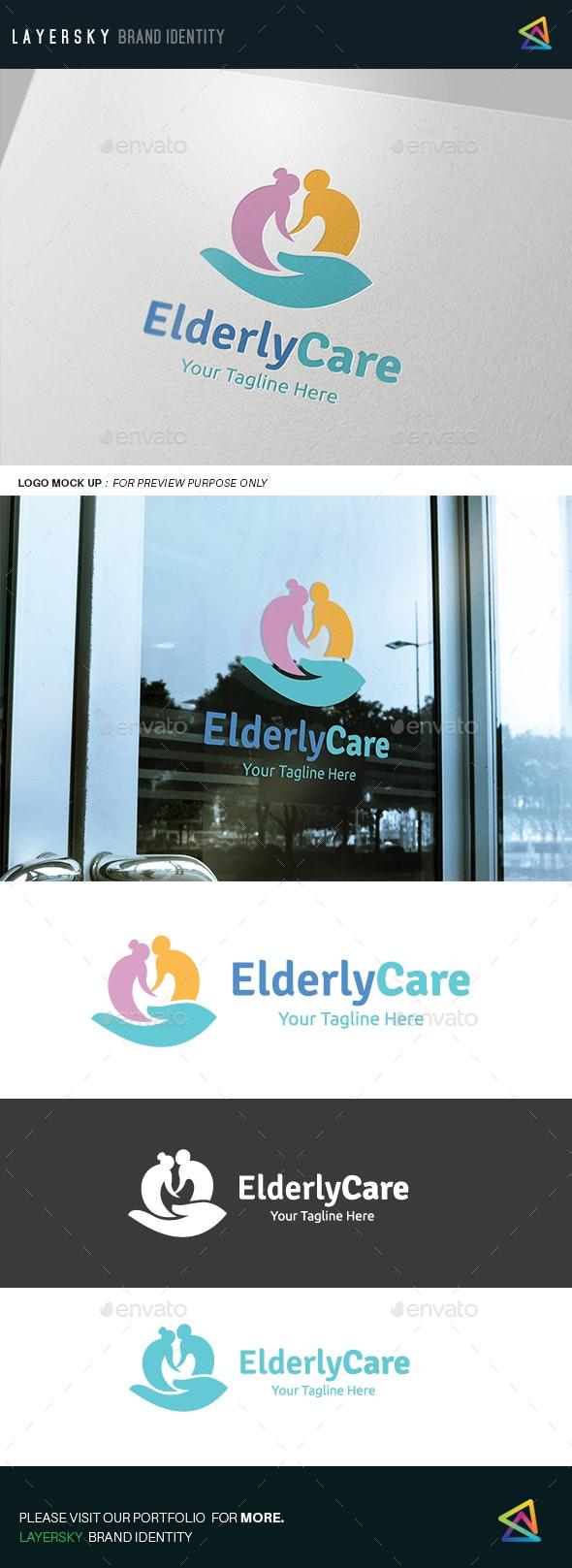 Elderly Care Logo - Humans Logo Templates