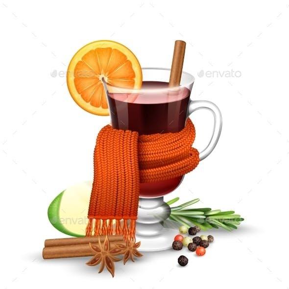 Mulled Wine And Scarf