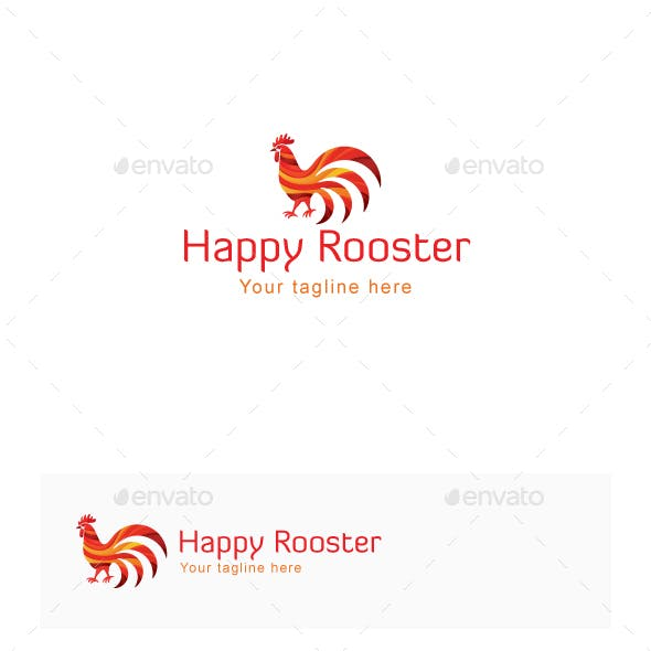 Happy Rooster Stock Logo Template