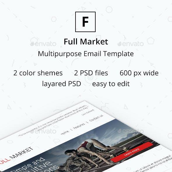 Full Market - Multipurpose Email Template