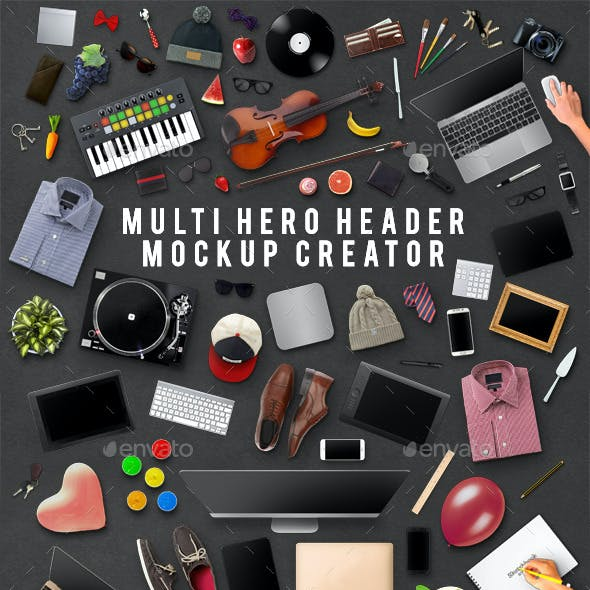Multi Hero Header Mockup Creator