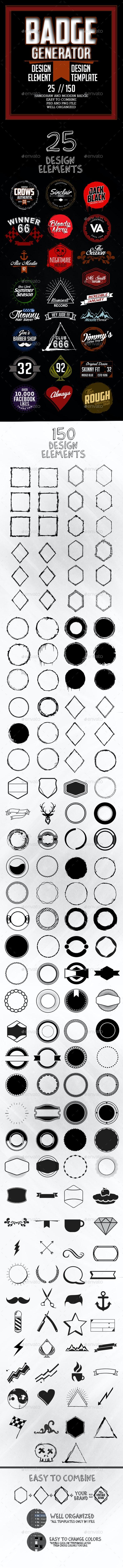 Badge Generator - Badges & Stickers Web Elements