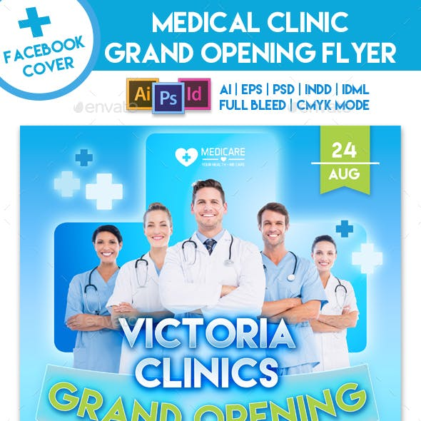 Medical Clinic Grand Opening Flyer Template