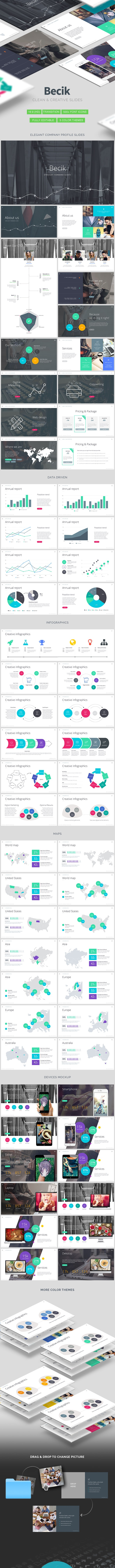 Becik - Creative Keynote Template - Keynote Templates Presentation Templates