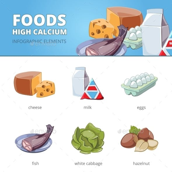 High Calcium and Vitamins Foods