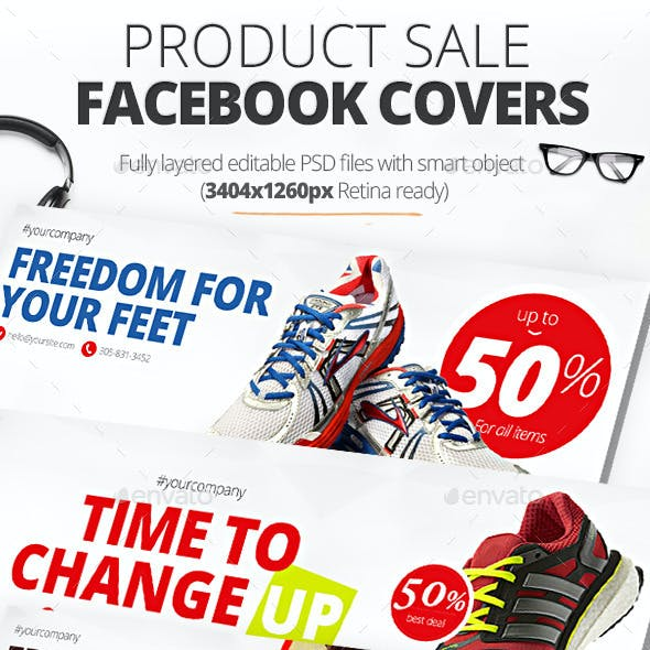 Product Sale Facebook Covers