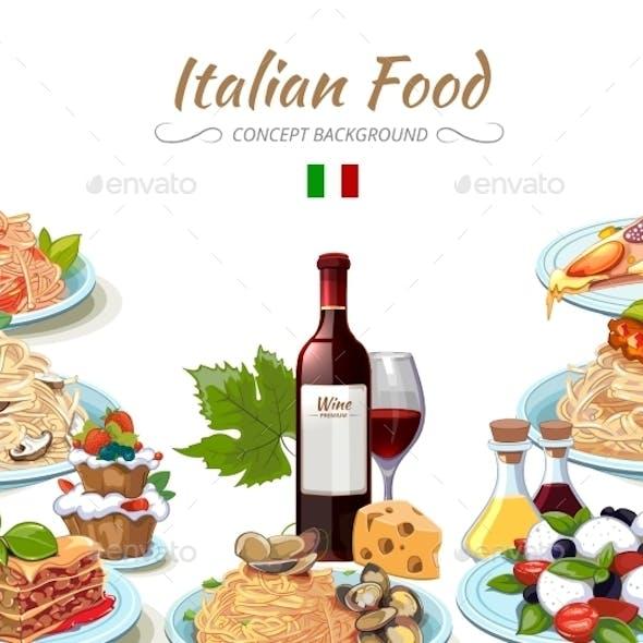 Italian Cuisine Food Background