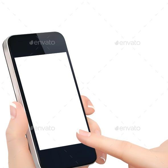 Finger Touching Phone