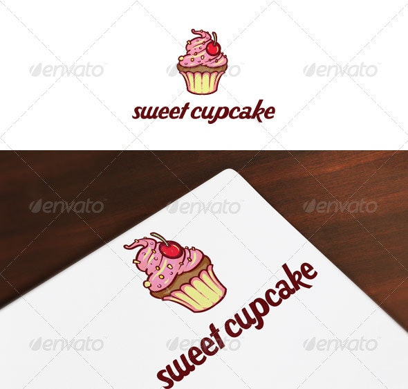 Sweet Cupcake Logo - Food Logo Templates