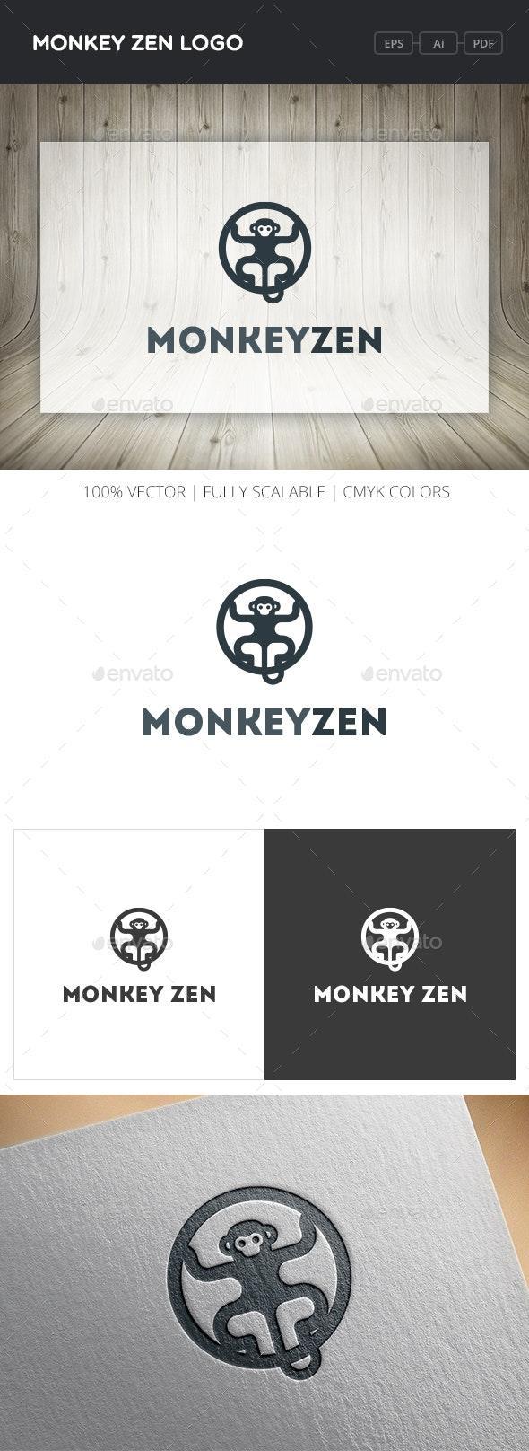 Monkey Zen Logo - Animals Logo Templates
