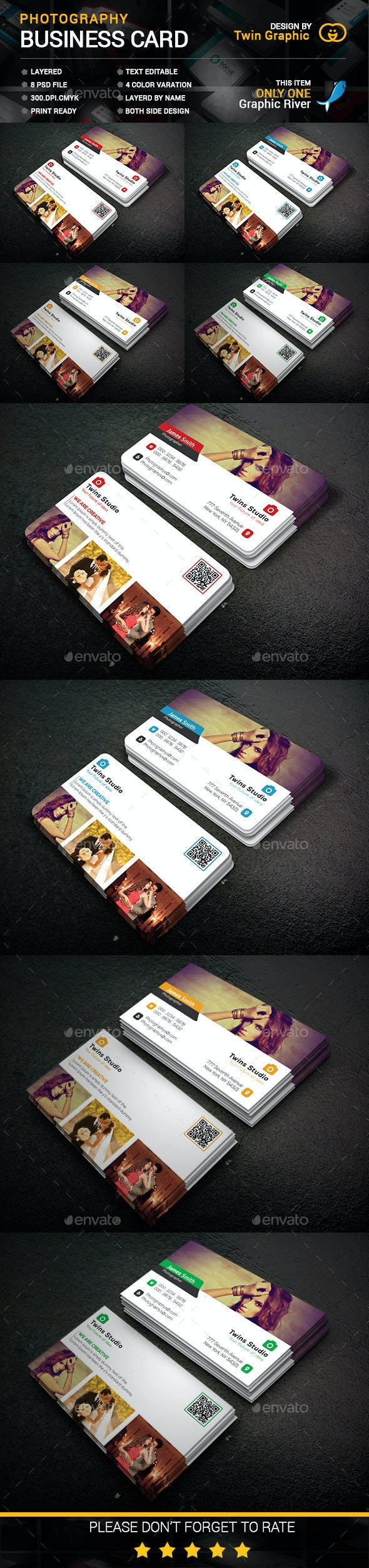 Photography Business Card Design - Business Cards Print Templates