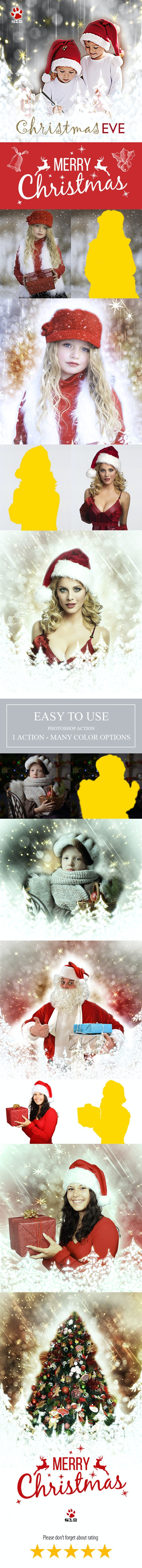 Christmas Photoshop Action - Photo Effects Actions