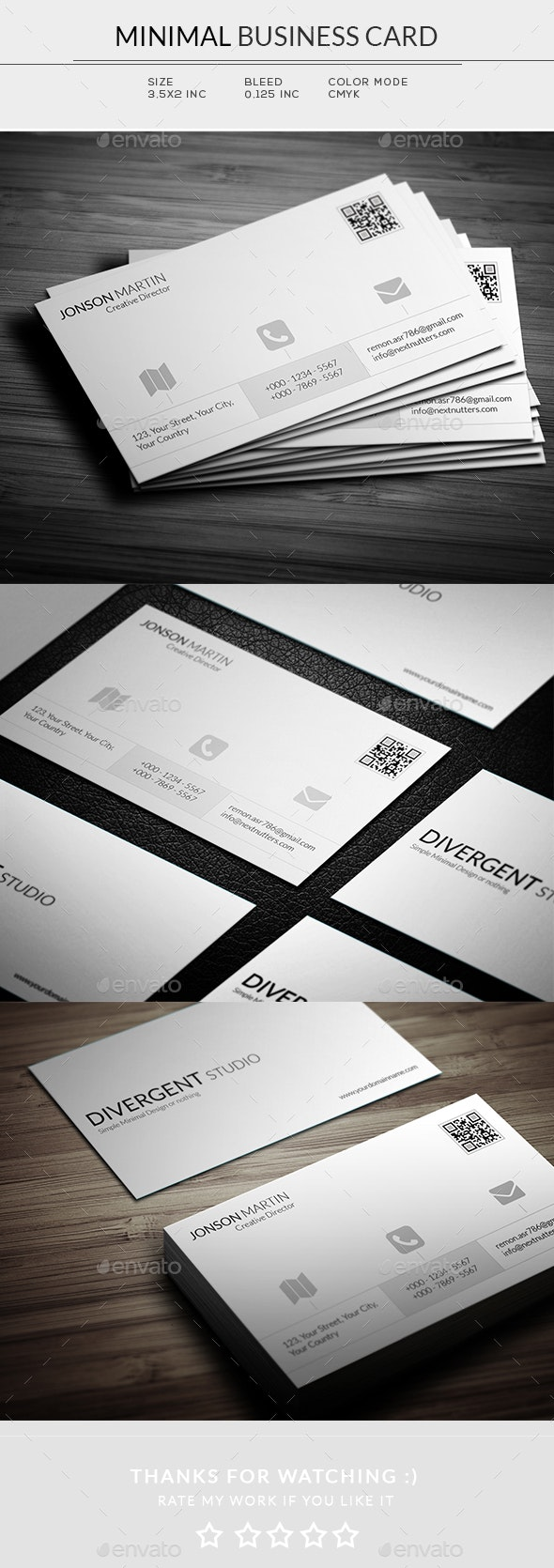 Minimal Business Card - Business Cards Print Templates