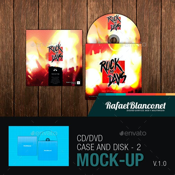CD/DVD Case and Disk Mock-Up - 2