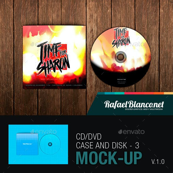 CD/DVD Case and Disk Mock-Up - 3