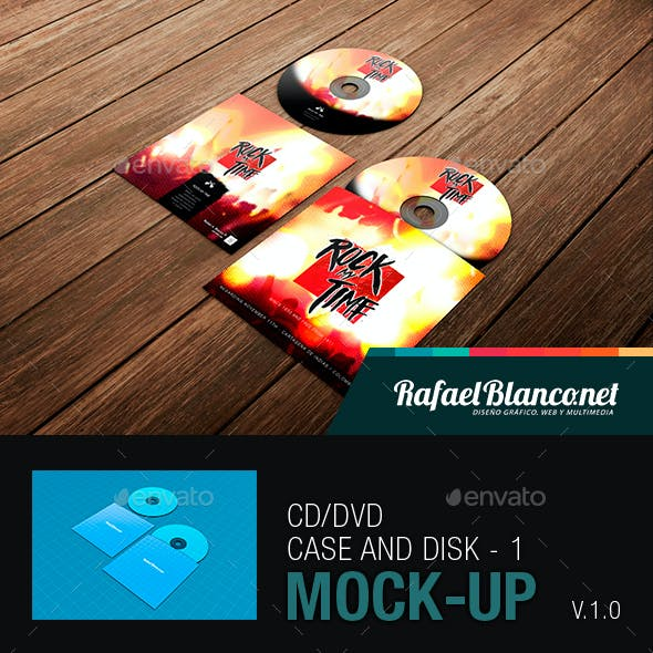 CD/DVD Case and Disk Mock-Up - 1