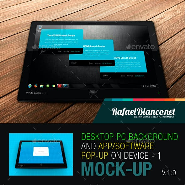 Desktop PC Background  and App/Software Pop-Up on Device - 1