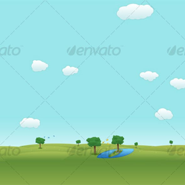 Drawn Landscape Background