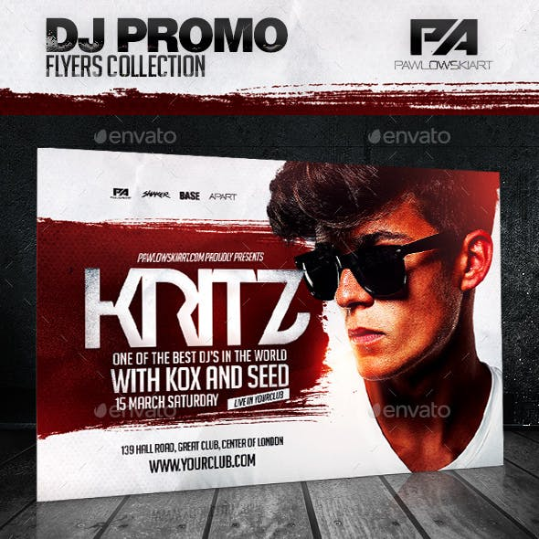 DJ Album Promo Horizontal Flyer Template