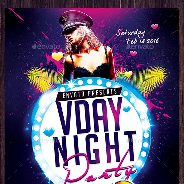 Vday and Ladies Night Party Flyer