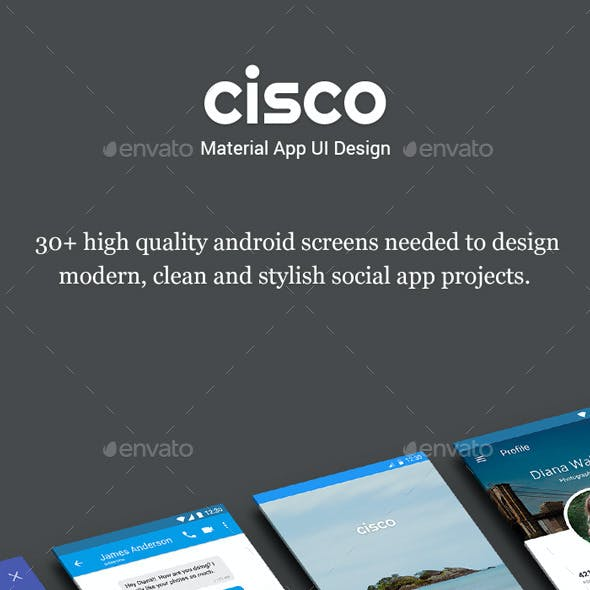 Material App UI Design - Cisco