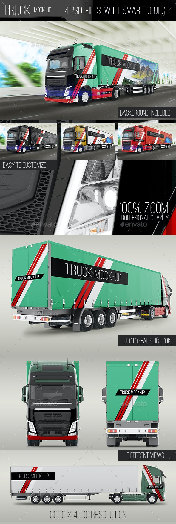 Truck Mock-Up - Vehicle Wraps Print