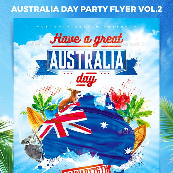 Australia Day Party Flyer vol.2