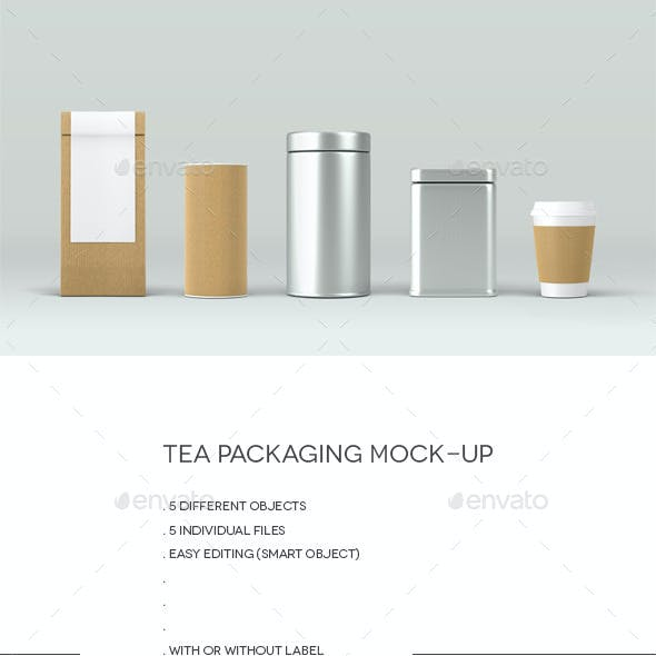 Tea Packaging Mock-Up