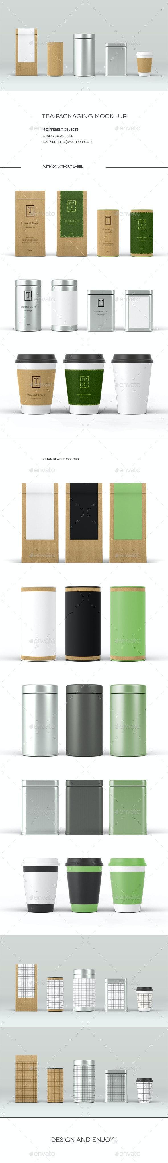 Tea Packaging Mock-Up - Food and Drink Packaging