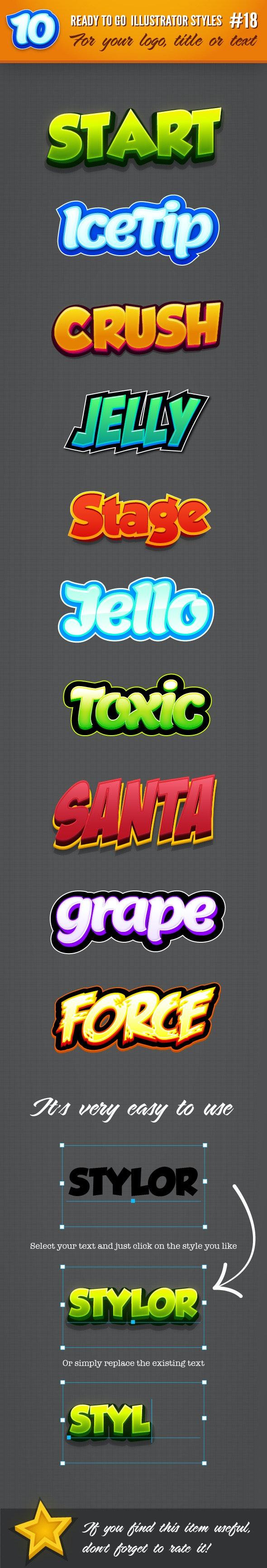 10 Logo Graphic Styles #18 - Styles Illustrator