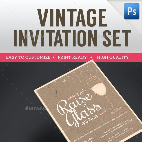 Vintage Invitation Set