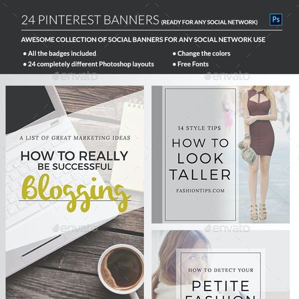 Pinterest & Instagram Banners